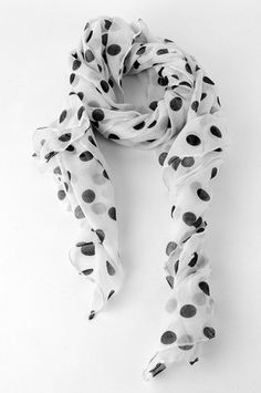 This and Dot Scarf in White $14 at www.tobi.com