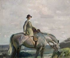 In Cornwall (Portrait of the Artist's Wife), c. 1911-21 by Alfred James Munnings