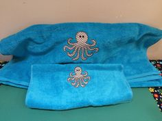 Octopus hand and bath towel. These are sold as a set -- $25.00