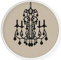Instant Download,Cross stitch pattern, Crossstitch PDF,vintage luxury lamp,Chandelier,cross stitch pillow pattern,zxxc0537
