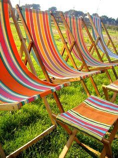 amazing vintage deckchairs