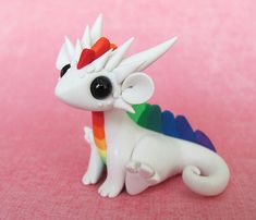 White Rainbow Scrap Dragon
