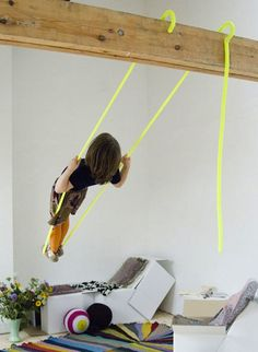 Hooks Swing from Belgium, from 10 Children's Swings for Indoor Play