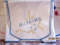 Charming Vintage Napkin Cozy  $10. by angelinabella on Etsy