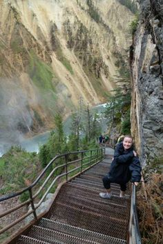 Uncle Tom's Trail Down Yellowstone National Park