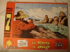 ANTIGUO COMIC ORIGINAL Tim 7 Tiros nº 86. Hispano Americana 1964. ¡IMPECABLE!LOT22