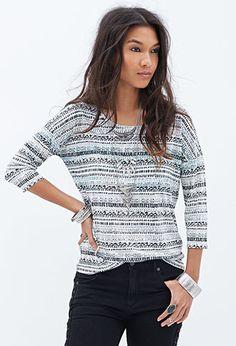 Tribal print jumper