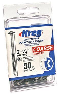 Kreg SML-C250-50 2-1/2-Inch #8 Coarse Washer-Head Pocket ...