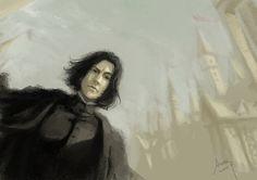 Severus Snape - Hogwarts by woshibbdou.deviantart.com on @deviantART