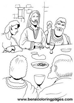 the last supper coloring pages