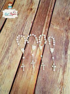 25 mini rosarios Rosario mini para bautizo o por ArtPaperParty