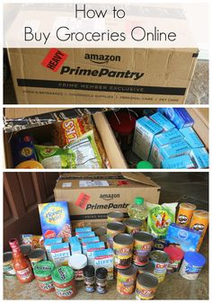 How to Buy Groceries Online Saving Ideas, Money Saving Tips, Amazon Prime Pantry, Amazon Free Shipping, Marketing Services, Frugal Tips, Be Your Own Boss, Ways To Save, Shopping Hacks