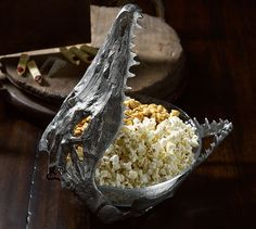 Alligator Skull Serve Bowl | Pottery Barn-  not sure how to diy this one but I WILL FIND A WAY