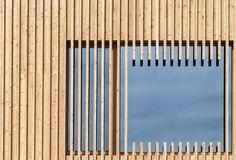 timber slats over glass