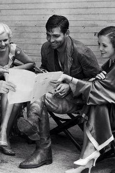 """Jean Harlow, Clark Gable - and Mary Astor - on the Set of """"Red Dust"""" - later made into """"Mogombo"""" with Clark and Grace Kelly and Ava Gardner!"""