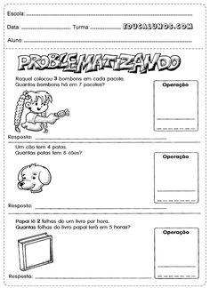 Atividades de interpretação de texto com operações