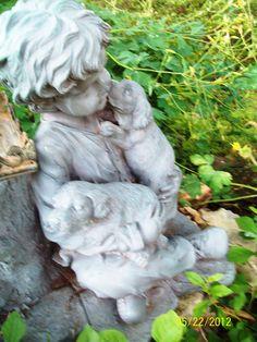 In the memorial garden Memorial Gardens, Columbine Flower, Home Altar, Small Boy, Boys Playing, Christian Art, Middle Ages, Art Education, Holy Spirit