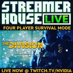 Join the whole team for @TheDivisionGame Survival LIVE NOW only at twitch.tv/nvidia #division #ubisoft  #NvidiaGeforce #multiplayer #online #survival #gaming #pc #twitch #stream #live