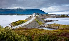 Bridge that's part of the Atlantic Ocean Road in Norway