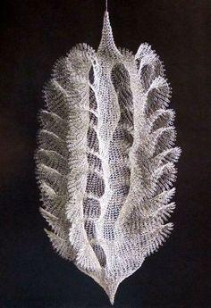 "Amazing crocheted wire sculpture by Ruth Asawa, ""Untitled"" 1958 Louise Bourgeois, Textiles, Ruth Asawa, Sculpture Metal, Wire Sculptures, Creation Art, Textile Fiber Art, Fibre Art, Crochet Art"