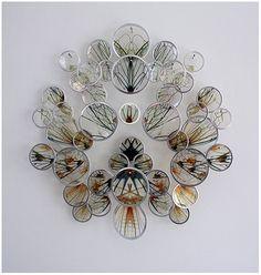 Alan Bur Johnson makes delicate clustered sculptures that consist of transparencies in silver frames mounted on dissection pins Bio Art, Art Textile, A Level Art, Gcse Art, Science Art, Art Plastique, Oeuvre D'art, Sculpture Art, Fiber Art