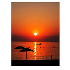 Wall Decor Silhouette beach sunset photography travel by gonulk