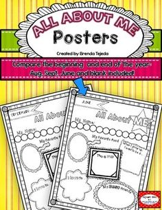 FREE. These are posters students can fill out at the beginning of the year, and again at the end of the year! It's great to see how their preferences, writing and drawing skills have changed throughout the year.