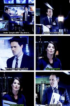 That time he simulatneously told Maria Hill she was shit at Pictionary while telling Ward he needs better people skills.