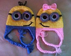 Minion beanie for boys and girls any age. by EveysBoutique on Etsy, $12.00