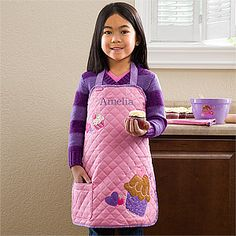 Personalized Kids Aprons - Cupcake - 12543. I will have to make this one day. Too expensive to buy.