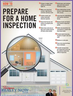 You've got a signed contract to sell. Don't sit back and fail to prepare for the critical home inspection. Go through this handy checklist and make sure you're ready. Home Selling Tips, Home Buying Tips, Home Buying Process, Buying First Home, First Time Home Buyers, Home Inspection, Home Repairs, Home Staging, Estate Homes