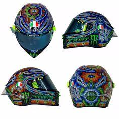 VR46 Winter Test Helmet for 2018 Edition! Love it! #vr46 #thegoat