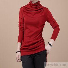 Burgundy Woolen sweater top
