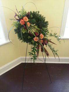 Funeral wreath #sympathyflowers