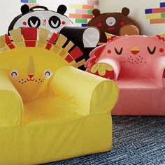 Executive Pet Nod Chair - Designed by artist Michelle Romo and available in four fun animal designs.