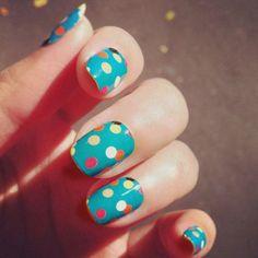cute nail designs spring  http://beautifulnaildesigns.com/cute-spring-nail-designs-polka-dots/