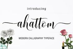 Ahattom Script Fonts **Ahattom** is modern script font, every single letters have been carefully crafted to make your tex by Creative. Modern Script Font, Script Logo, Modern Fonts, Script Type, Handwritten Fonts, Calligraphy Fonts, New Fonts, Caligraphy, Chalkboard Art Quotes