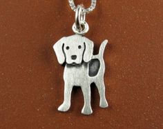 Super cute original silver animal jewelry by StickManJewelry Metal Clay Jewelry, Dog Jewelry, Animal Jewelry, Charm Jewelry, Dog Necklace, Pendant Necklace, Sterling Silver Necklaces, Silver Jewelry, Silver Ring