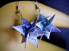 spiral+star+origami earring
