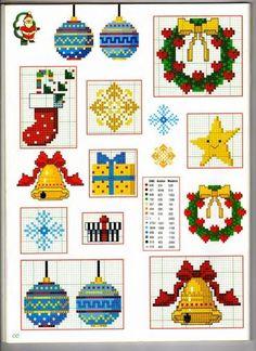 Punto de Cruz GRATIS: Mini graficos para Navidad