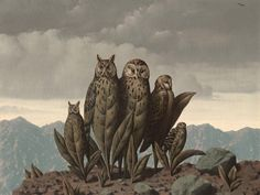 Rene Magritte - Les compagnons de la peur, 1942