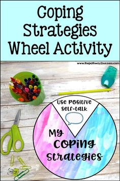 Learn how you can make your own coping strategies wheel to work on managing emotions and stress! A great interactive tool for kids and teens to work on social emotional skills. Social Emotional Learning, Social Anxiety, Social Work, Social Skills, Anger Management For Kids, Mental Health Resources, Positive Self Talk, Help Teaching, Anxiety Disorder