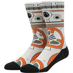 Star Wars Mens Bb8 Classic Crew Sock Tan Medium *** You can get additional details at the image link. (This is an affiliate link) #StarWarsClothing