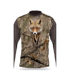 Hunting Clothing with Unique ShirtsCamouflage technology with 3d T Shirts, Hunting Clothes, Fox, Shirt Dress, Sleeves, Collection, Dresses, Fashion, Vestidos
