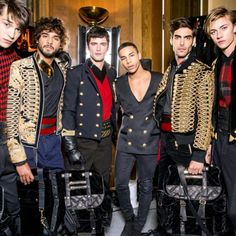Fashion Week homme casting mannequins stars defile Balmain