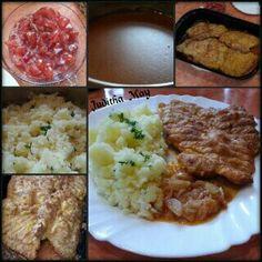 Kuřecí řízky naruby Mashed Potatoes, Ethnic Recipes, Food, Whipped Potatoes, Smash Potatoes, Essen, Meals, Yemek, Eten