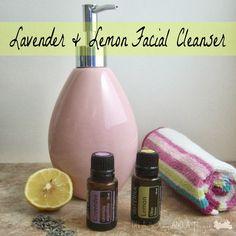 DIY Lavender & Lemon Facial Cleanser