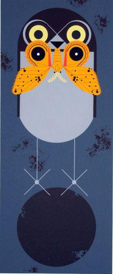Charley Harper 4 août 1922 - 10 juin 2007.  Charley Harper est un artiste-illustrateur américain du mouvement moderniste.    Conjoint : Edie Mckee (m. 1947)  Formation : Art Academy of Cincinnati  Période : Modernisme