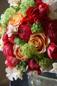ranunculus,rose,anemone and sweet pea