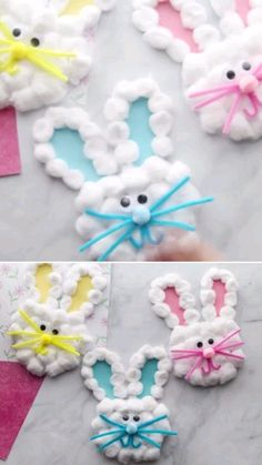 How to make rabbit practicing at home for kids videos home arts and crafts for kids At Home Crafts For Kids, Daycare Crafts, Toddler Crafts, Preschool Crafts, Diy For Kids, Rabbit Crafts, Bunny Crafts, Easter Arts And Crafts, Kids Origami